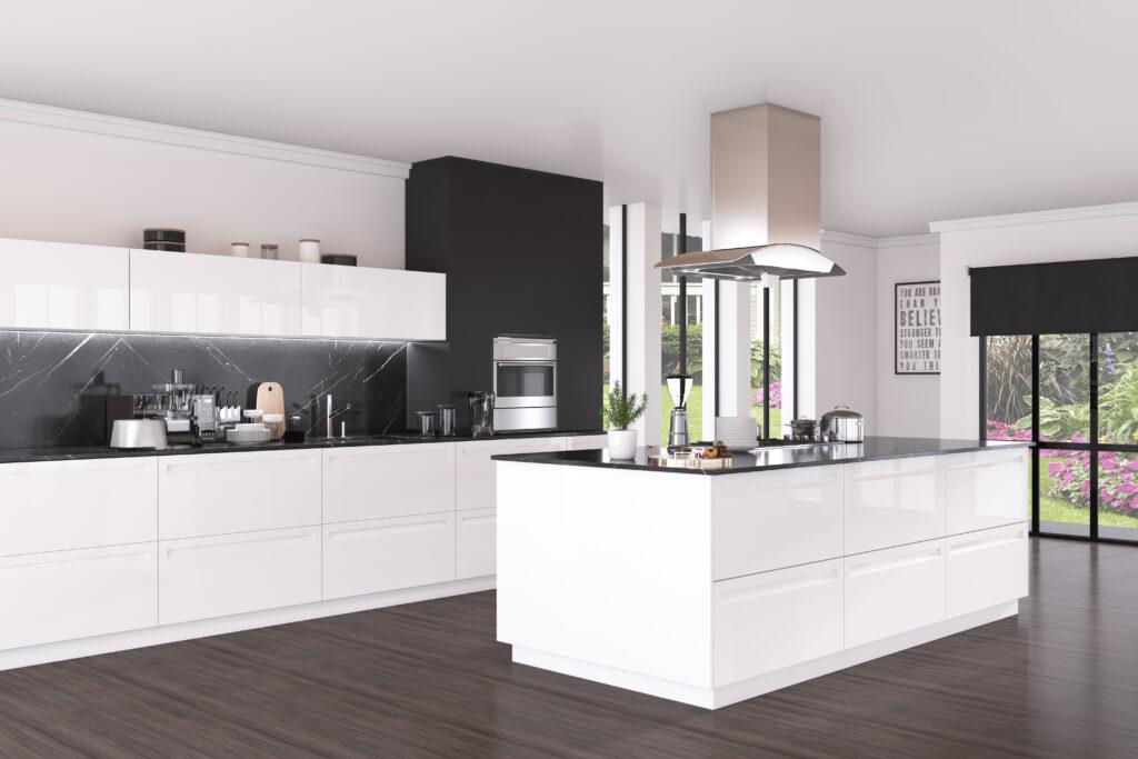 Zona Cocinas · Lacado P22-Olimpia Blanco Brillo con Madrid Blanco Brillo