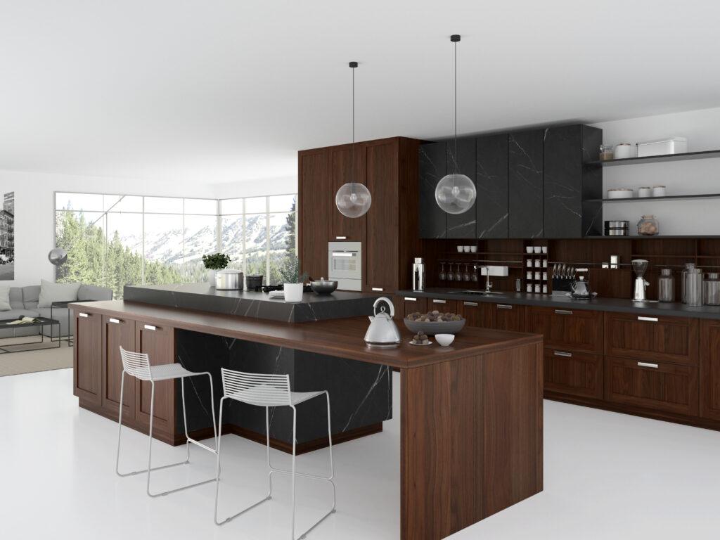 Zona Cocinas · Maderas Naturales P178-CALABRIA NOGAL N9