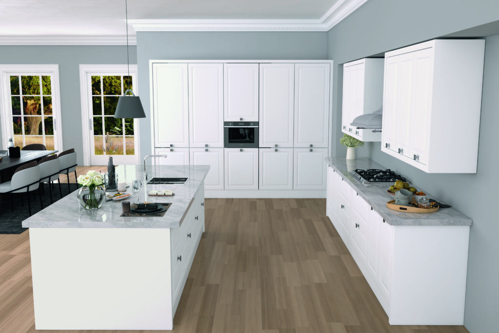 Zona Cocinas · Polilaminado P130 - Oxford Elite Nieve 300